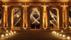 photo photographie château de Versailles le péristyle du Grand Trianon photographe Serge Decoster photos feux d'artifice