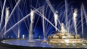 photo, photographie,feu d'artifice, château de Versailles, le bassin de latone photographe Serge Decoster photos feux d'artifice