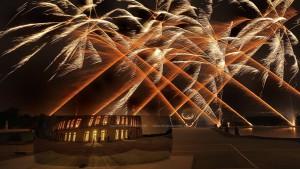 photo, photographie, feu d'artifice,Sculpture d'Anish Kapoor château de versailles, le parterre d'eau photographe Serge Decoster photos feux d'artifice