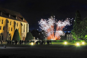 photo, photographie, abbaye de Royaumont photos feux d'artifice photographe Serge Decoster