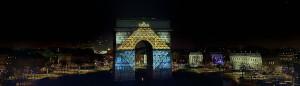 photo photographie Paris arc de triomphe photo feux d'artifice 1er de l'an 2015 photographe Serge Decoster
