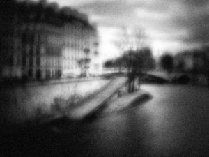 Paris ,photo noir et blanc, quai d'orléans,
