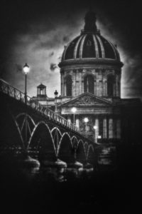 paris, photo noir et blanc, le pont des arts - serge decoster photographe