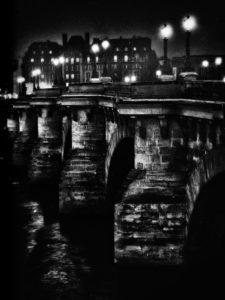 Paris, photo noir et blanc, le pont neuf