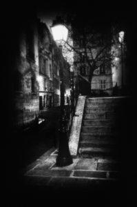 paris, photo noir et blanc, Ile de la Cité, rue des Ursins