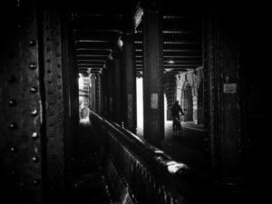 Paris, photo noir et planc, pont alexandre III