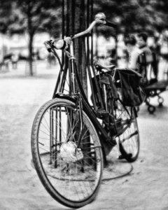 paris, photo noir et blanc, place dauphine,