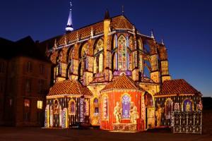 photo photographie photographe Serge decoster, Chartres en lumières, l' église St pierre