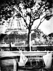Paris - photo noir et blanc,Tour eiffel, avenue de new york,