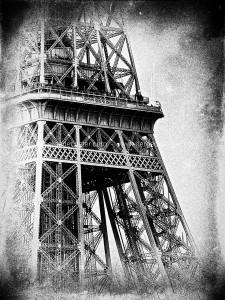 Paris, photographie noir et blanc- La tour Eiffel